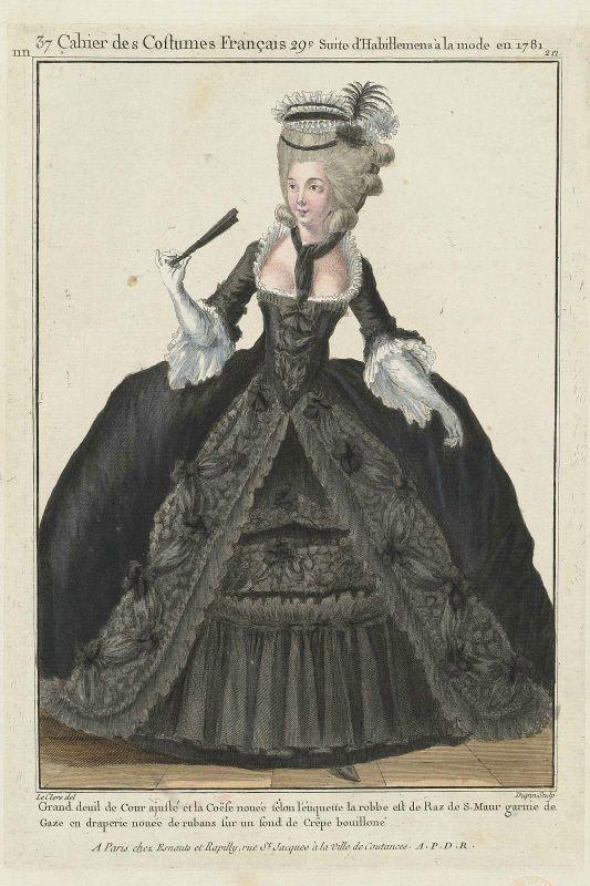 """Charge à la Cour :  """" Collerette """" 1781k10"""