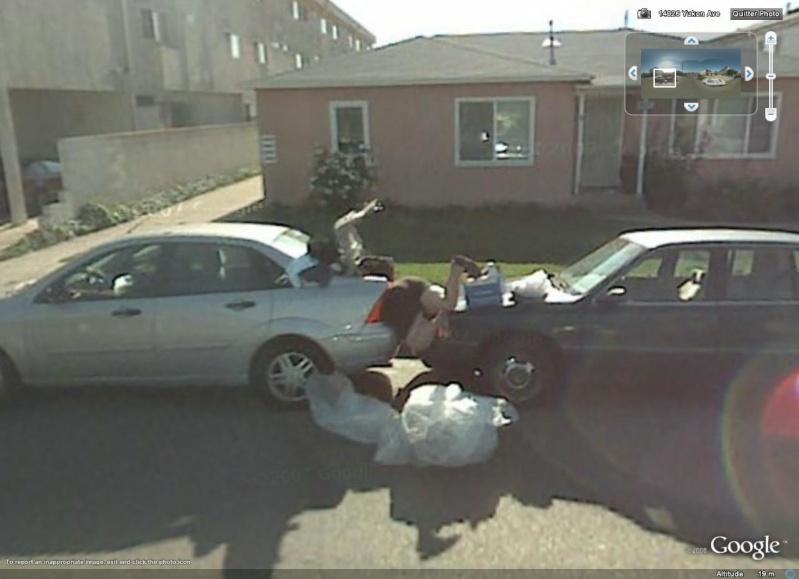 STREET VIEW : Homme dans un coffre, Alondra Park, Californie, USA Coffre10