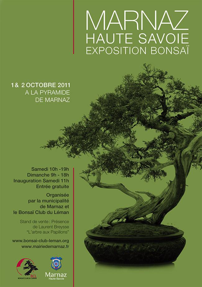 Exposition de bonsai à Marnaz (74) les 1er et 2 octobre 2011 Affich10