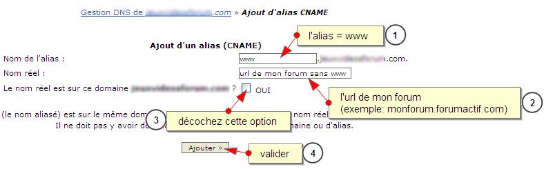 Reconfigurer un nom de domaine externe pour qu'il dirige vers votre forum Firesh19