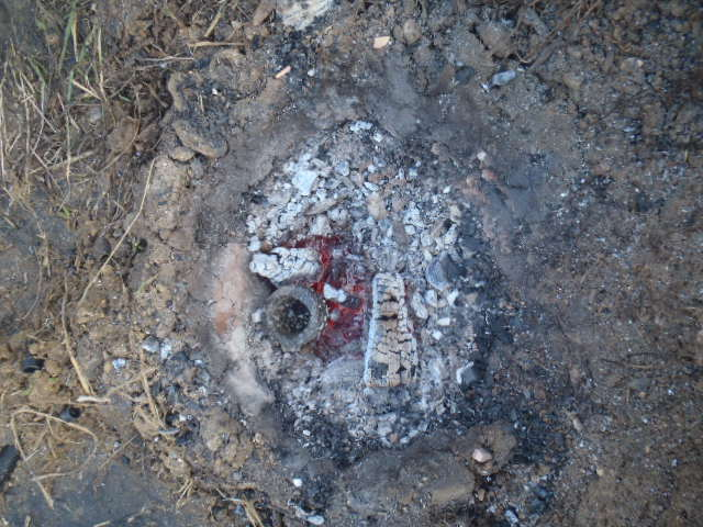 Expérimentation : Fonte du bronze à partir de zéro P3310512