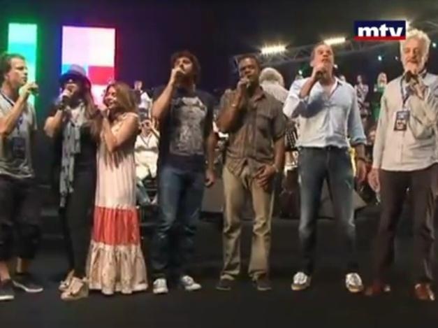 Captures MTV Lebanon JT de 13H << Reportage: Répétition  Notre Dame De Paris à Beyrouth >> 09/07/2012 Nd12