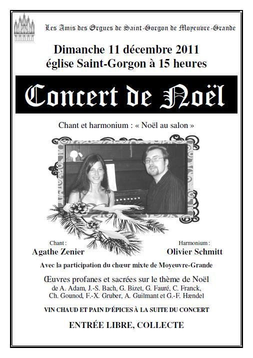 Concert de Noël 2011 à Moyeuvre-Grande le 11-12-2011 Affich10