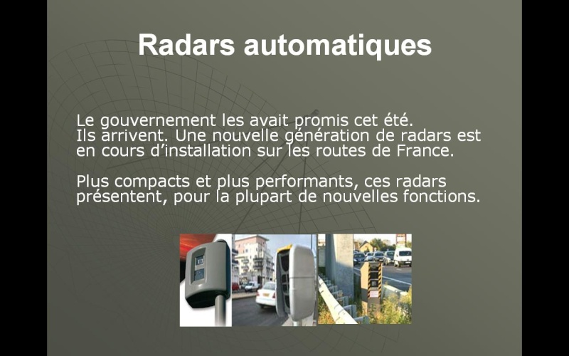 Les radars 210