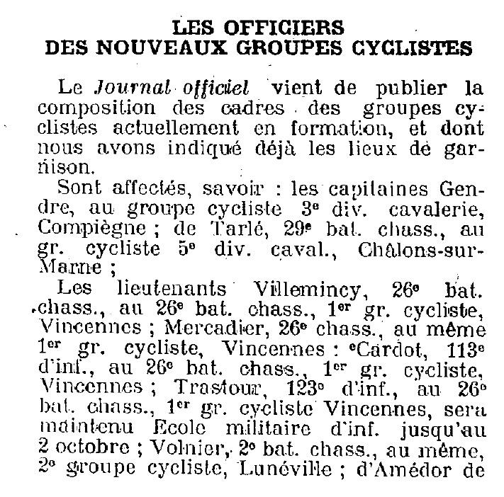 groupes cyclistes / compositions des cadres Nouvel16