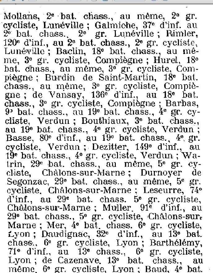 groupes cyclistes / compositions des cadres Nouvel17