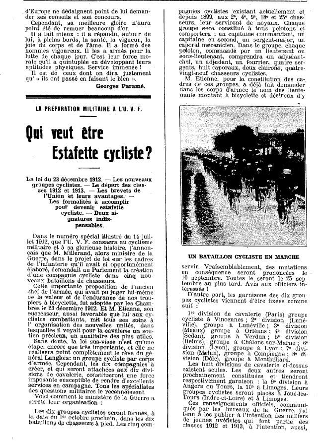 Article faisant référence aux groupes cyclistes Nouvel21