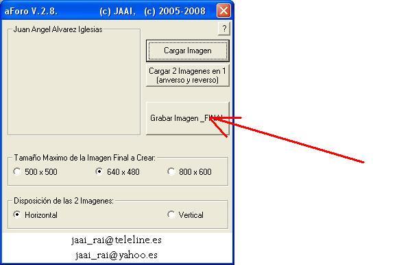 Programa/Utilidad para gestion de imagenes aForo Grabar10