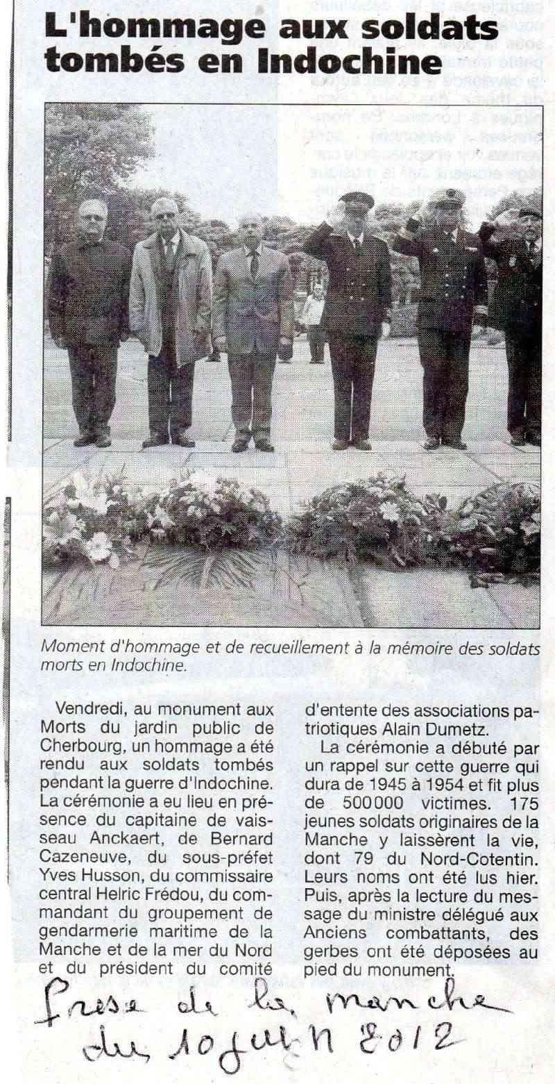[Histoires et Histoire] Hommage aux Français Morts en Indochine (Commémorations) Doc02210