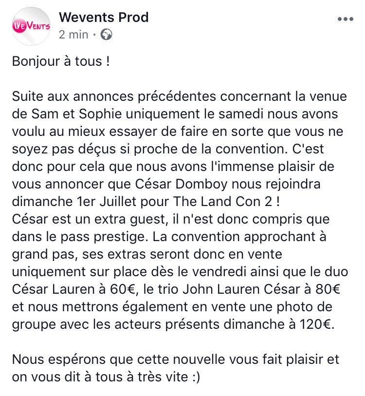 TheLandCon2 du  juin et 1er juillet 2018 à paris - Page 2 Dgkdyp10