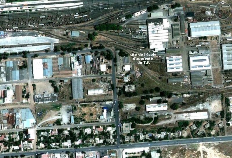 Le Tanger Fès à Meknès, les Gares, L'Ecole Plan_t11