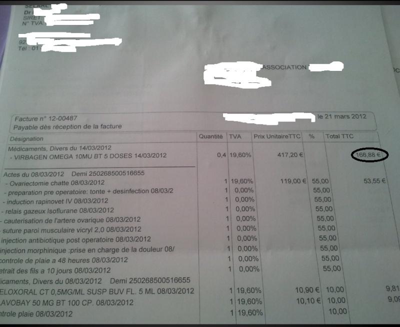 Je vous en prie pour Elliott +2500€ de soins... Factur16