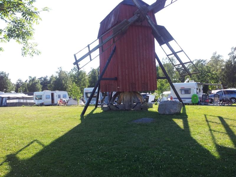 Camping på Øland i Sverige. 20120710