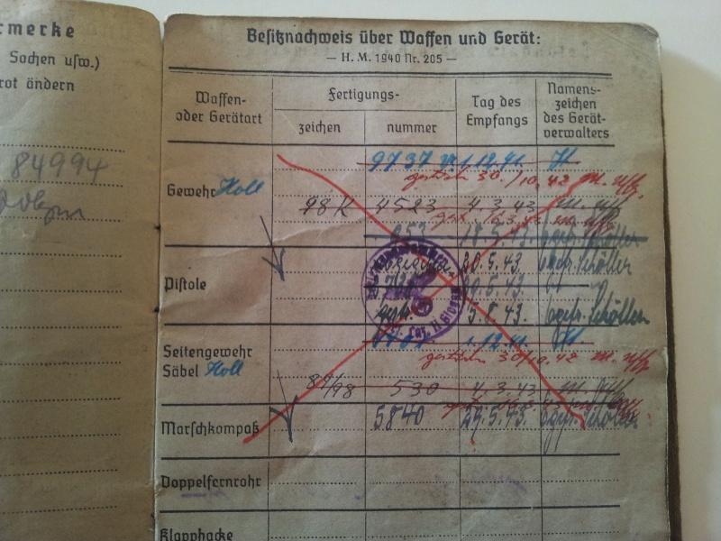 Vos livrets militaires allemands WWII (Soldbuch, Wehrpass..) / Heer-LW-KM-SS... 2011-200