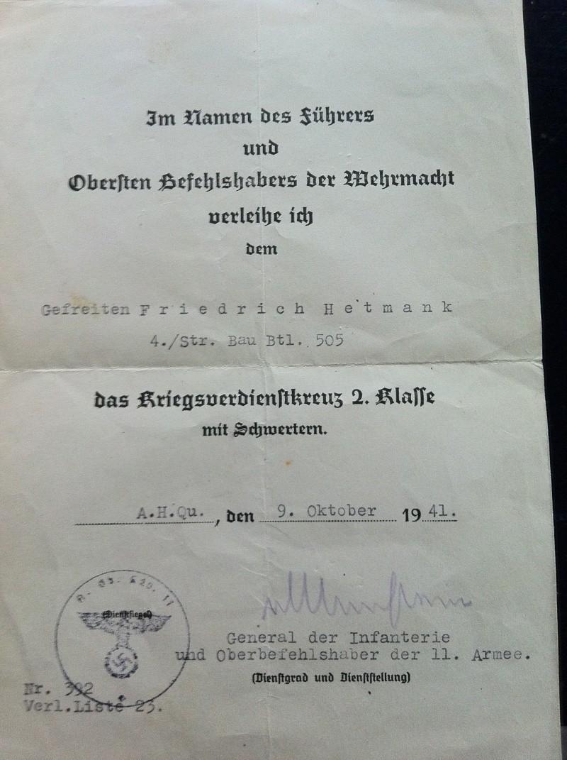 Diplômes allemands WWII, avec signatures d'officiers Généraux Img_0613