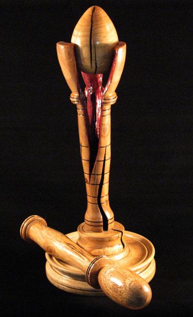 Escultura torneada(Turned of wood sculpture) Grieta10
