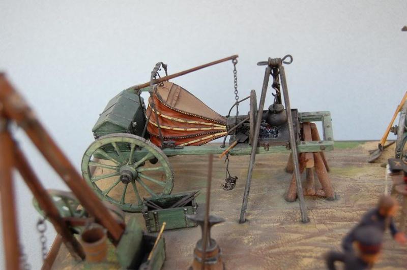 Bivouac d'ouvriers d'artillerie - Allemagne 1809 - Historex 1/32e 30-rcv11