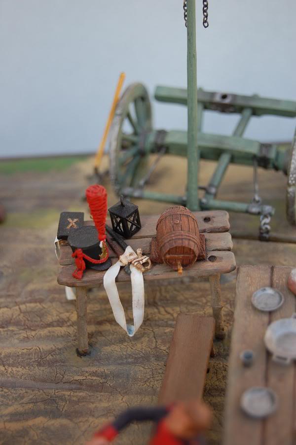 Bivouac d'ouvriers d'artillerie - Allemagne 1809 - Historex 1/32e 30-rcv12