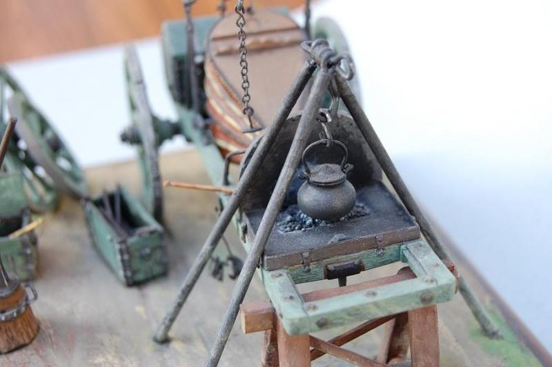 Bivouac d'ouvriers d'artillerie - Allemagne 1809 - Historex 1/32e 30-rcv15