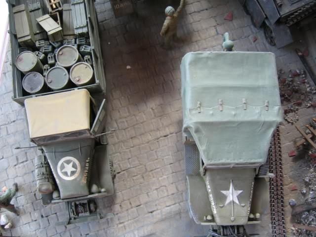 Sherman M4A1 Italeri - GMC CCKW 353 Heller - Dodge M6 Italeri - Jagdpanzer IV L/70 Italeri tout au 1/35e Allema16