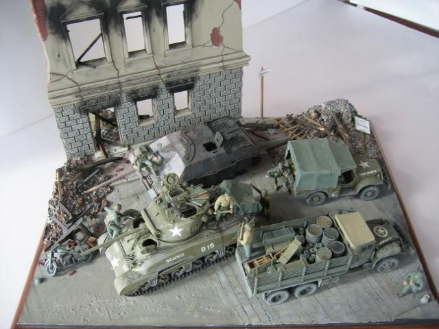 Sherman M4A1 Italeri - GMC CCKW 353 Heller - Dodge M6 Italeri - Jagdpanzer IV L/70 Italeri tout au 1/35e Allema37