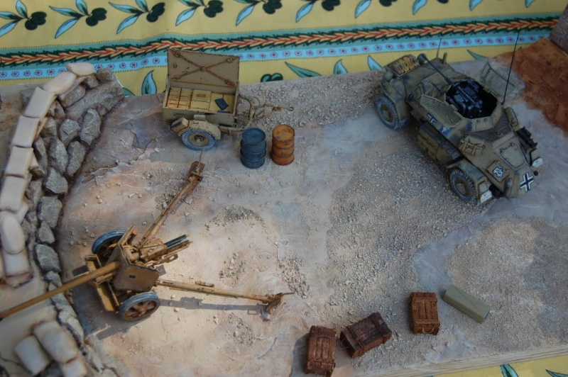 De Tobruk à El Alamein - Octobre 42 - Maquettes Tamiya et Italeri - Figurines MK35 - 1/35e Chezgr10