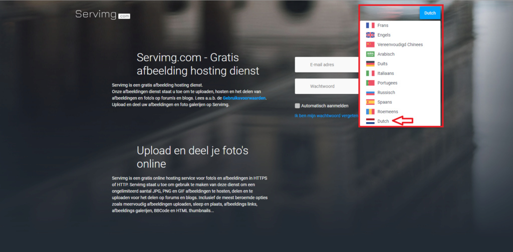 Volledig nieuw ontwerp van Servimg afbeeldingen hosting site Scr14