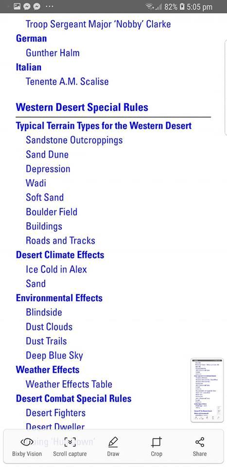 Campaign Book : the Western Desert ... demandez le menu .. et resortez les palmiers ...  710