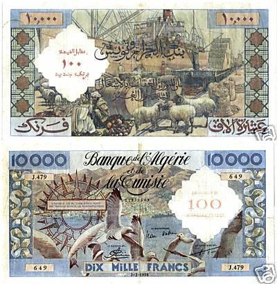 Emissions d'Algérie en billet avant 1962 1110