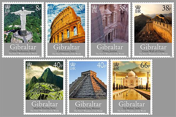 Gibraltar:Les Sept nouvelles merveilles du monde en timbres 344l10