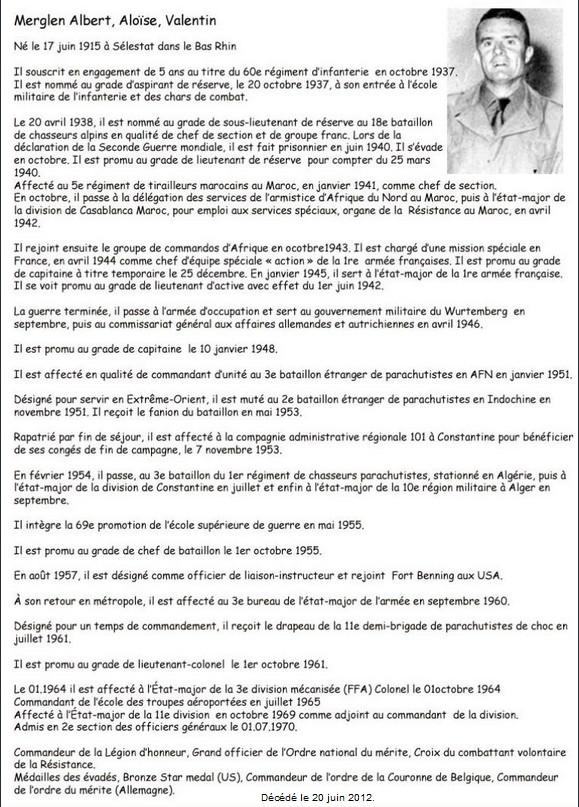 Décès du général Albert Merglen Ganara10
