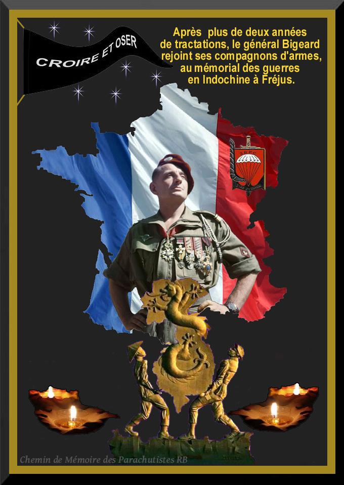 20 novembre 2012 le général Bigeard rejoindra ses compagnons d'armes au mémorial des guerres d'Indochine à Fréjus où une stèle sera dévoilée 2_foru25