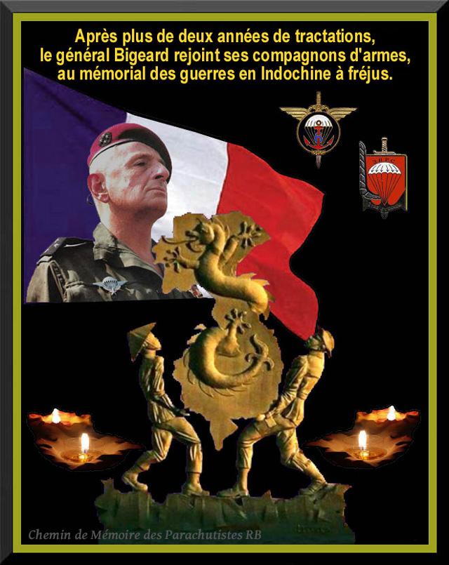 20 novembre 2012 le général Bigeard rejoindra ses compagnons d'armes au mémorial des guerres d'Indochine à Fréjus où une stèle sera dévoilée 3_foru17
