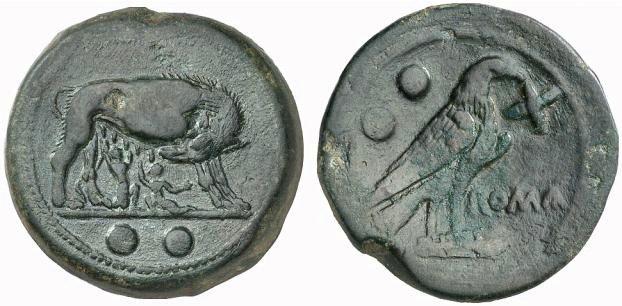 Nouveau denier de la gens Pompeia Th-l0210