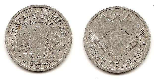 Francia, 1 franco, 1944. Etatfr11