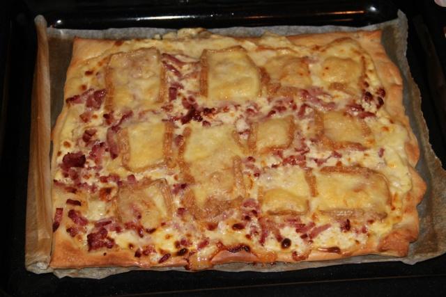 Pizza au maroille et lardons fumés. 21_10211