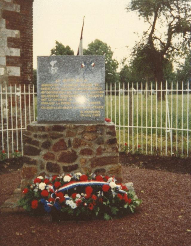 Monuments du 20°BCA de BOULAINVILLERS (80) 1910
