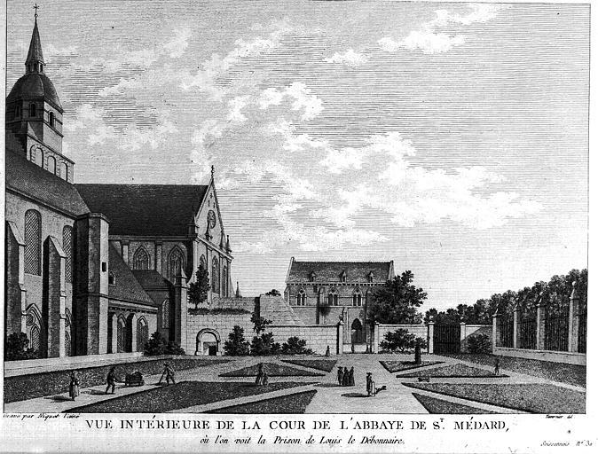ŒUVRES CHRÉTIENNES DES FAMILLES ROYALES DE FRANCE - (Images et Musique)- année 1870  Abbaye10