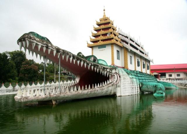 Bâtiments en forme de crocodile Crocod10