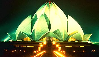 Le Temple du Lotus à Delhi, Inde Lotus-10