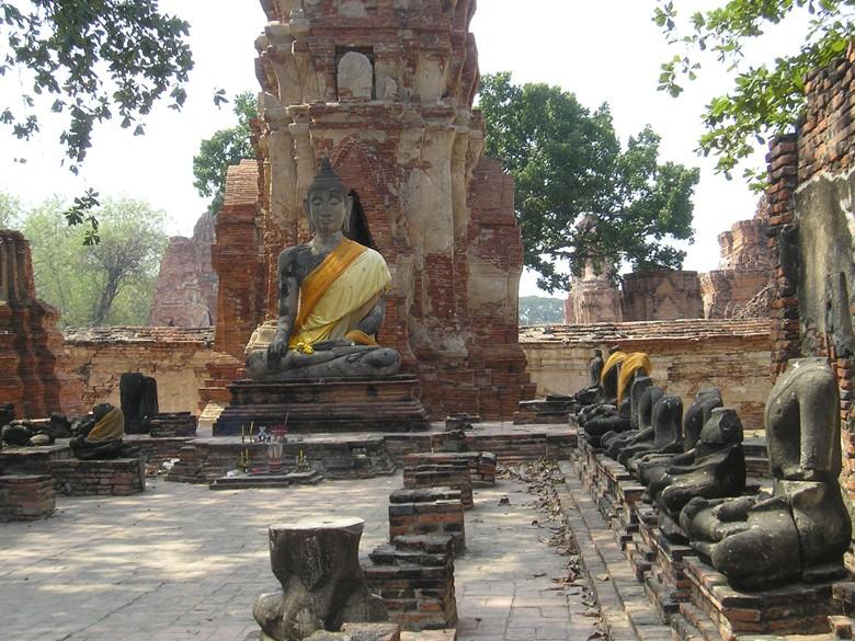 Les temple d'Ayutthaya, Thaîlande Mahath11