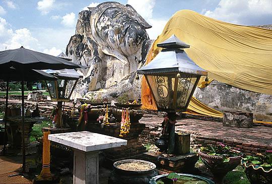 Les temple d'Ayutthaya, Thaîlande Reclin10