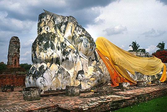 Les temple d'Ayutthaya, Thaîlande Reclin11