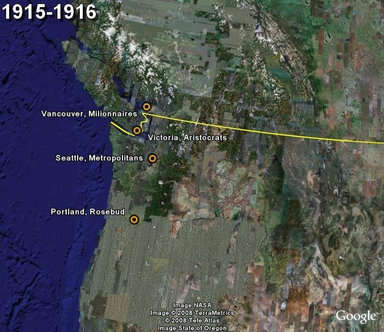La saga du HOCKEY pro en Amérique du Nord  1915-10