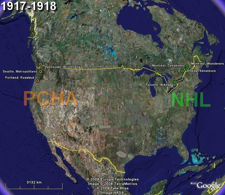 La saga du HOCKEY pro en Amérique du Nord  1917-11