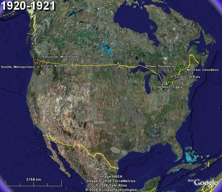 La saga du HOCKEY pro en Amérique du Nord  192011