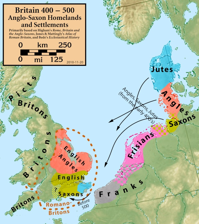 La Digue d'Offa (Offa's Dyke), frontière entre l'Angleterre et le Pays de Galles Britai11