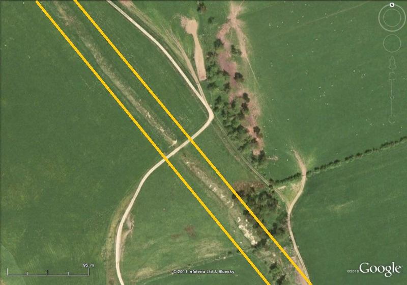La Digue d'Offa (Offa's Dyke), frontière entre l'Angleterre et le Pays de Galles Fossa110