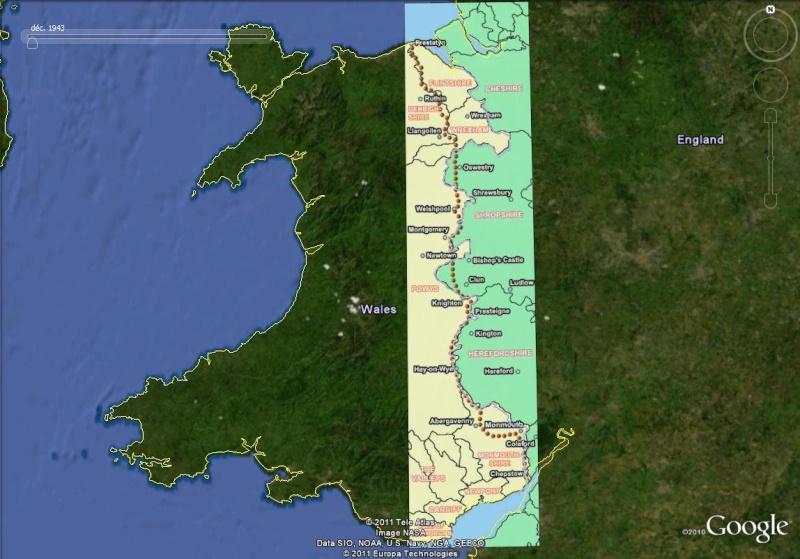La Digue d'Offa (Offa's Dyke), frontière entre l'Angleterre et le Pays de Galles Offa_210