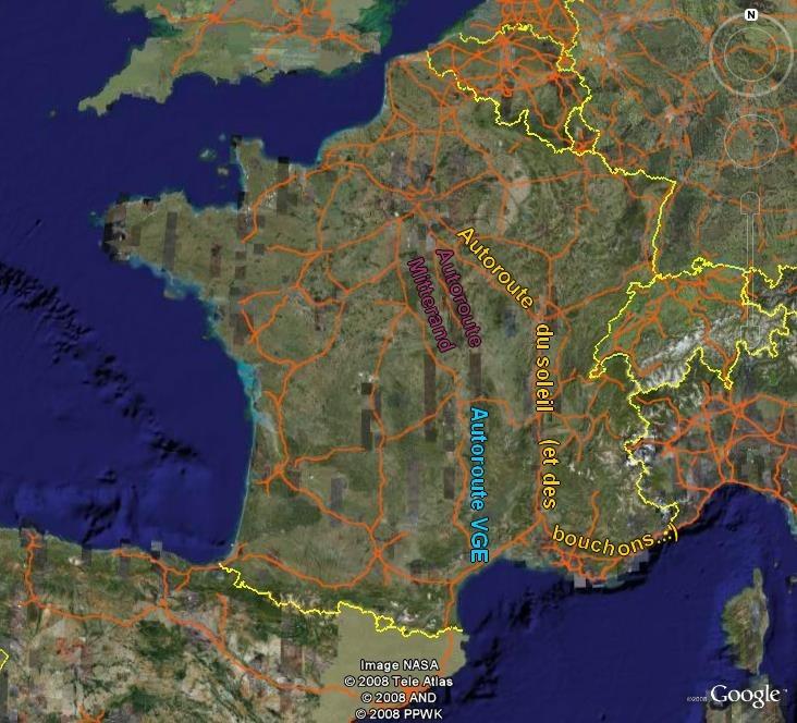 La France sous toutes ses coutures avec Google Earth Routes12